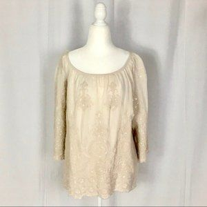 Tops - NWT Belle France boho top size M